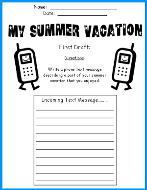 4 Images of Summer Vacation Printable Worksheets