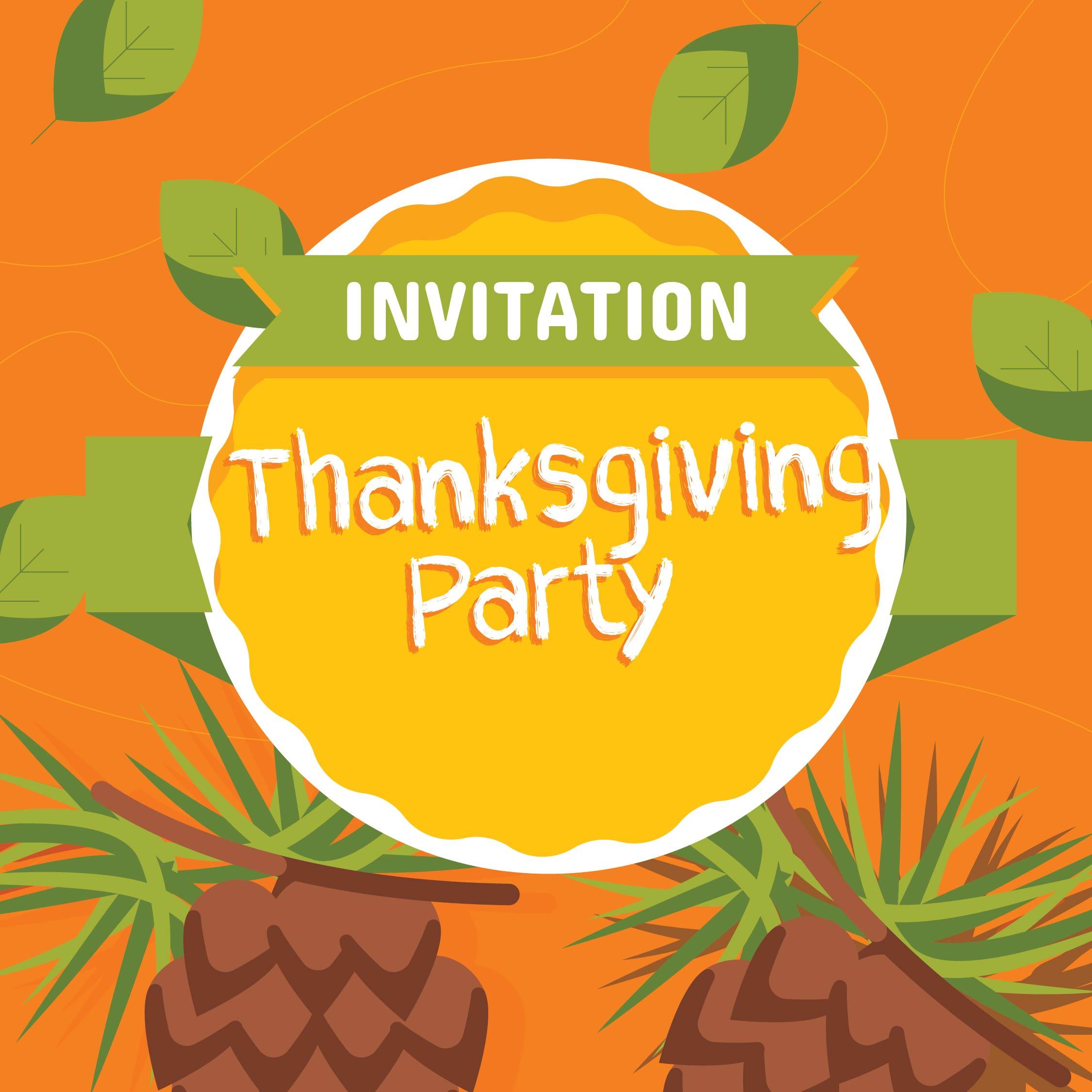 Thanksgiving Dinner Invitation Templates Printable Free