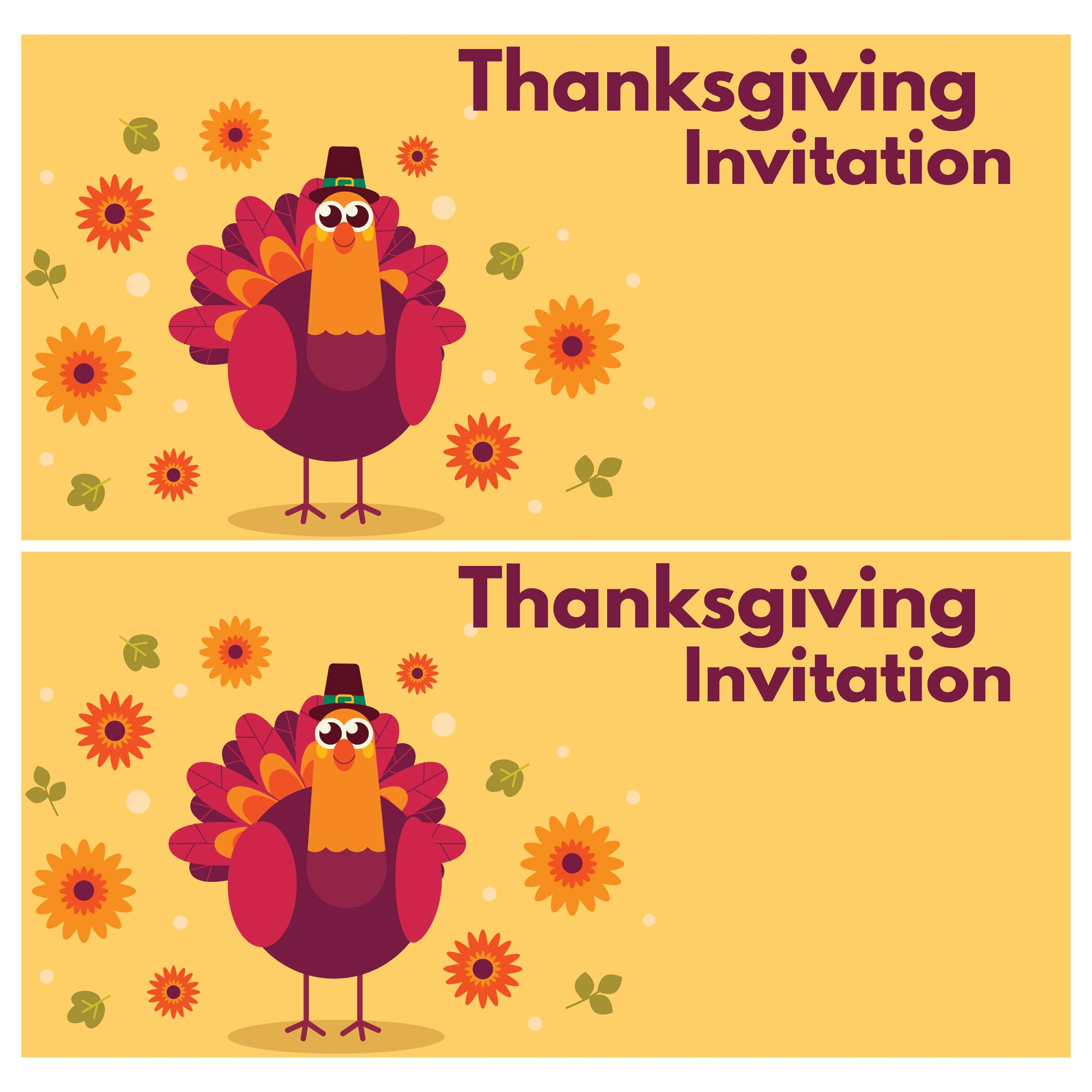 9 Images of Thanksgiving Printable Invitation Templates