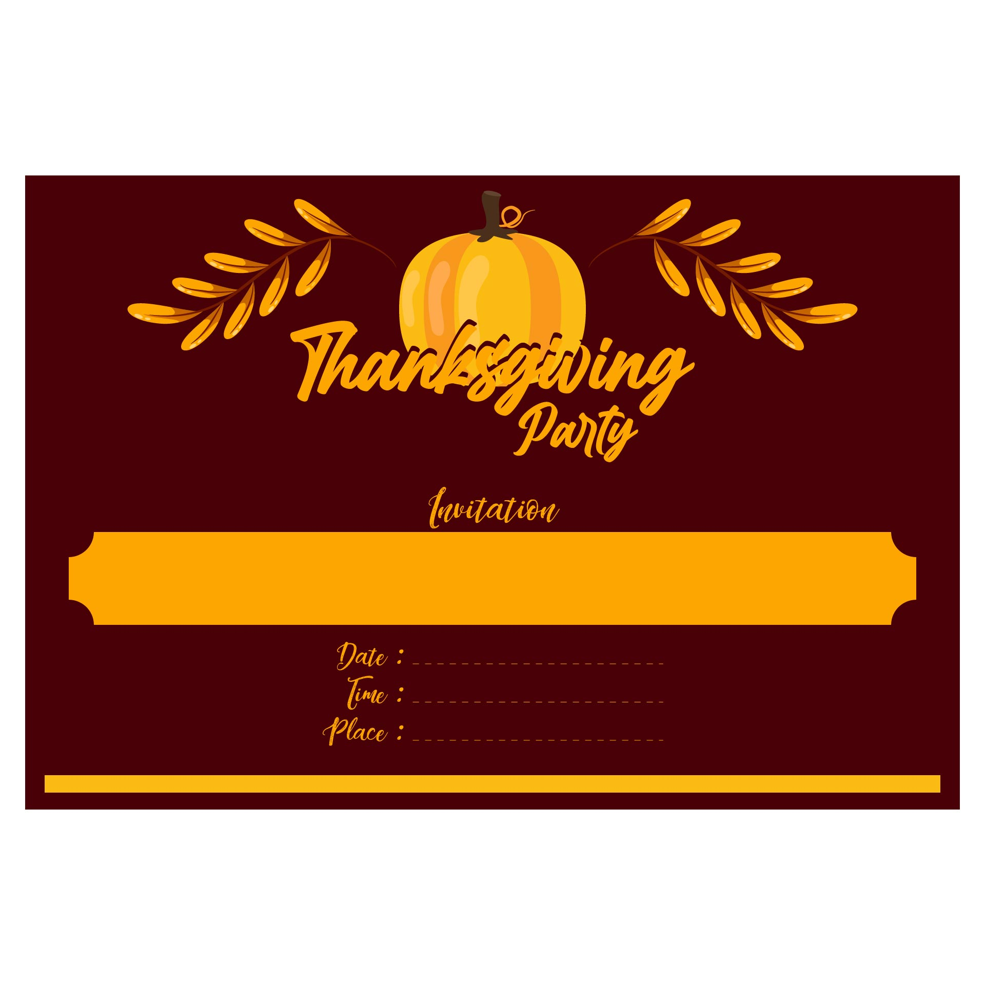 9 best images of thanksgiving printable invitation for Thanksgiving invitation templates free word