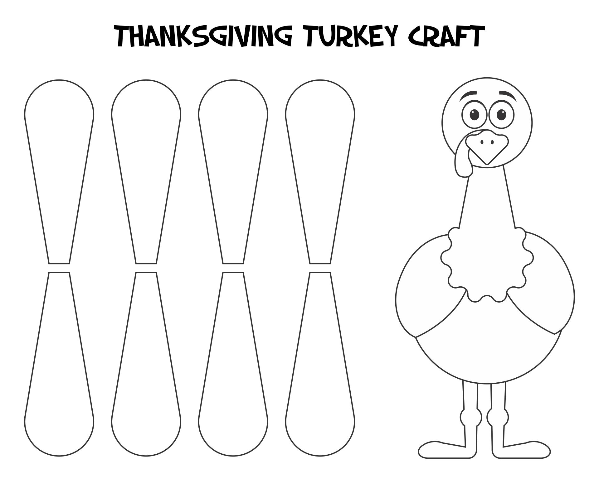 Thanksgiving Turkey Craft Templates