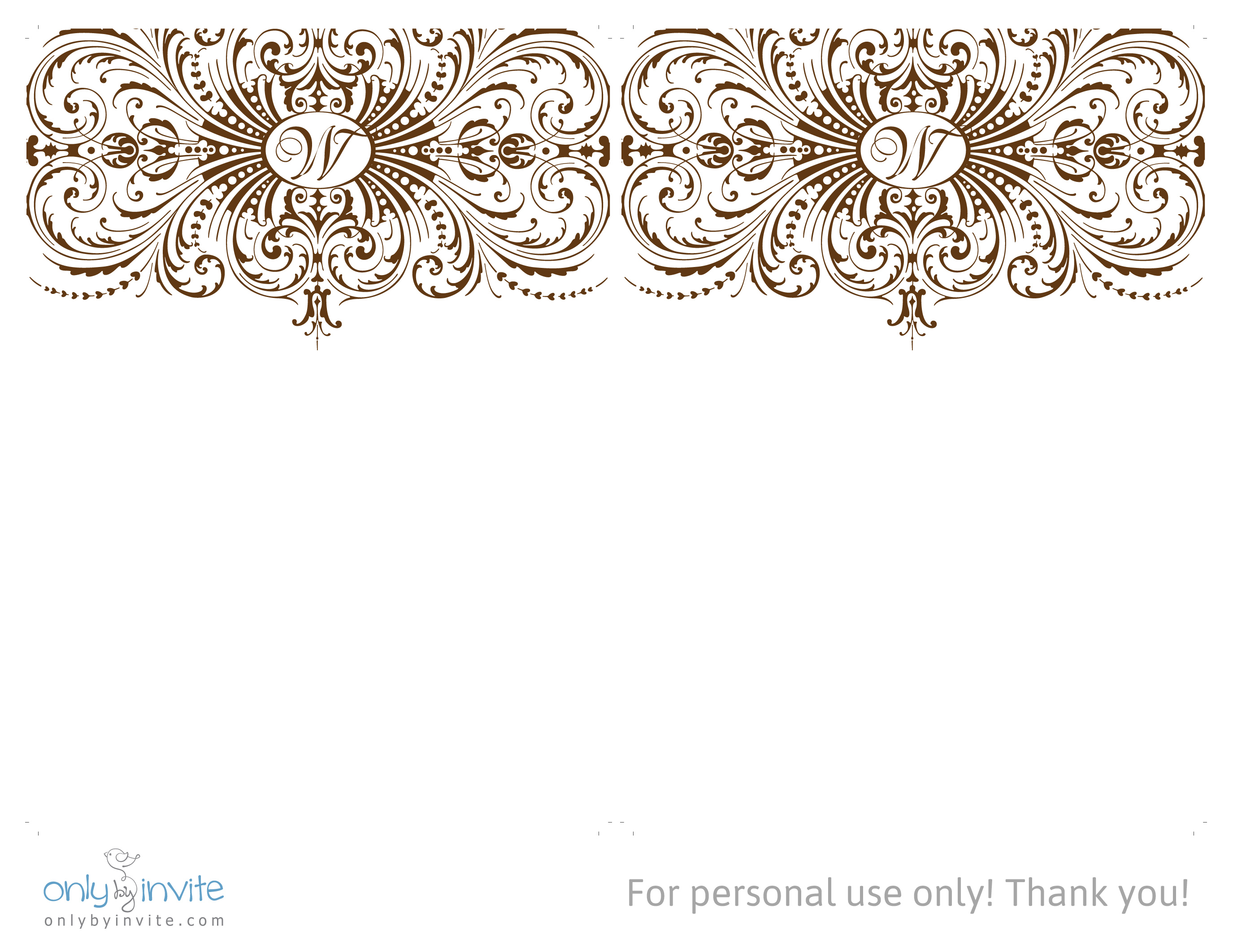 4 Images of Elegant Wedding Invitation Printable Template