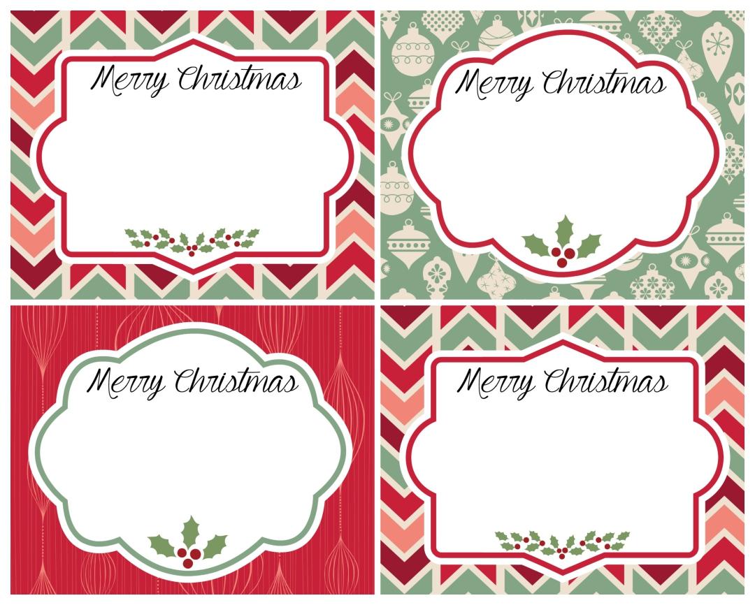 Vintage Christmas Labels Printable