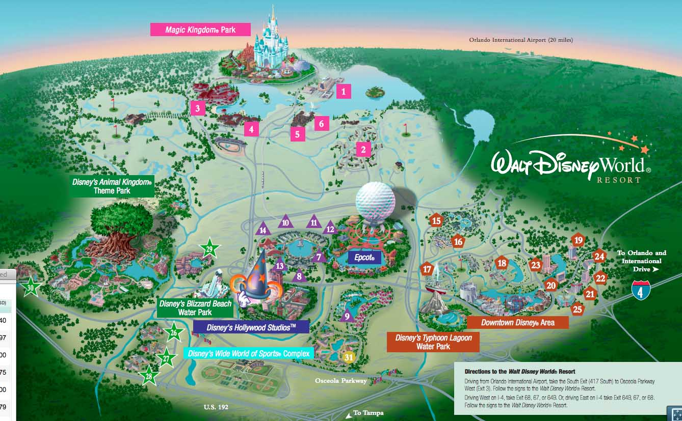 8 Images of Disney World Maps Printable