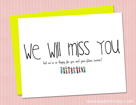 9 Images of We Will Miss You Card Printable Template