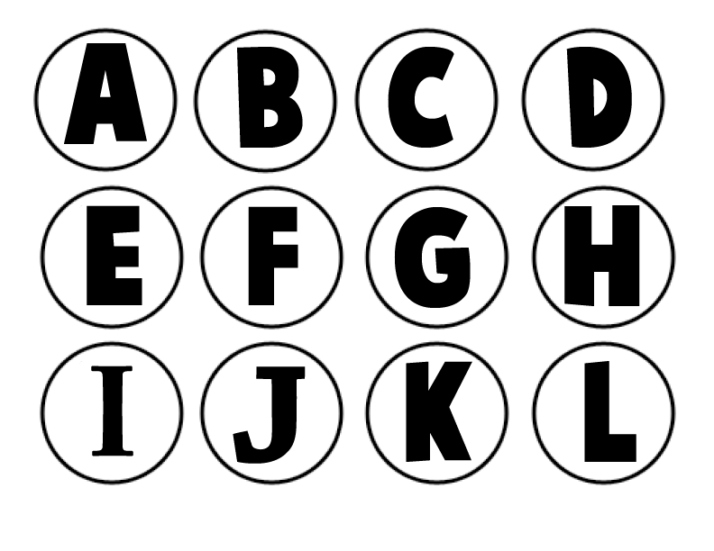 6 Images of Free Printable Letter Alphabets Out
