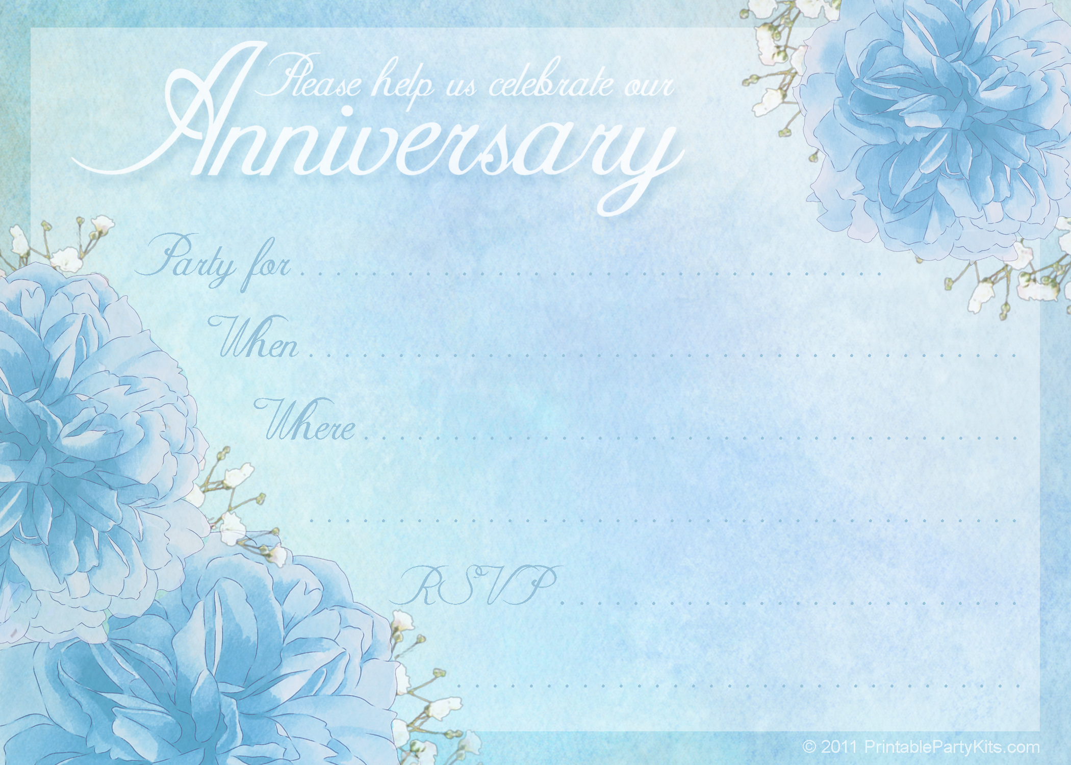 6 Images of Free Printable Anniversary Template