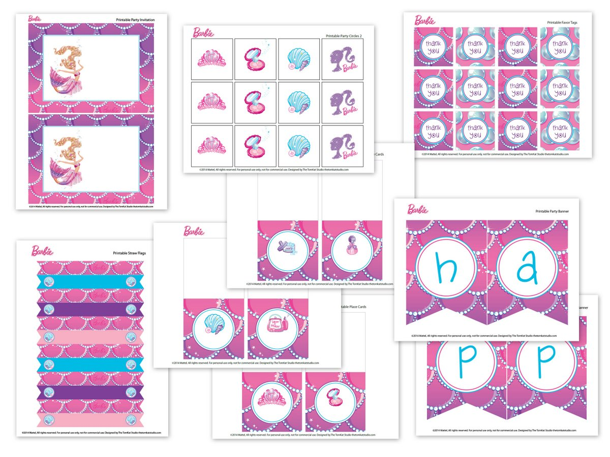 8 Images of Barbie House Printables