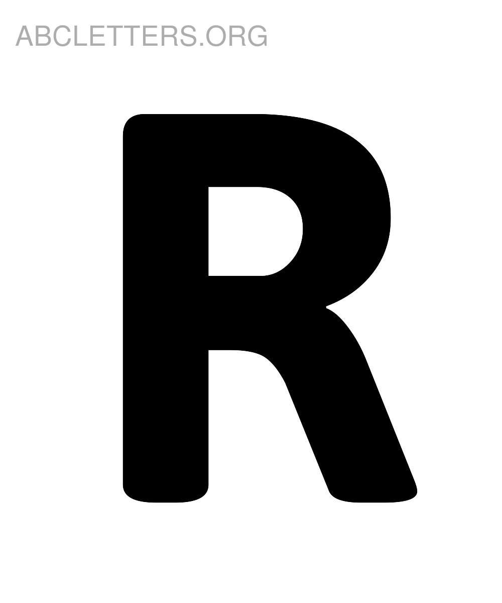 7 Best Images of Large Printable R - Letter R Coloring ...