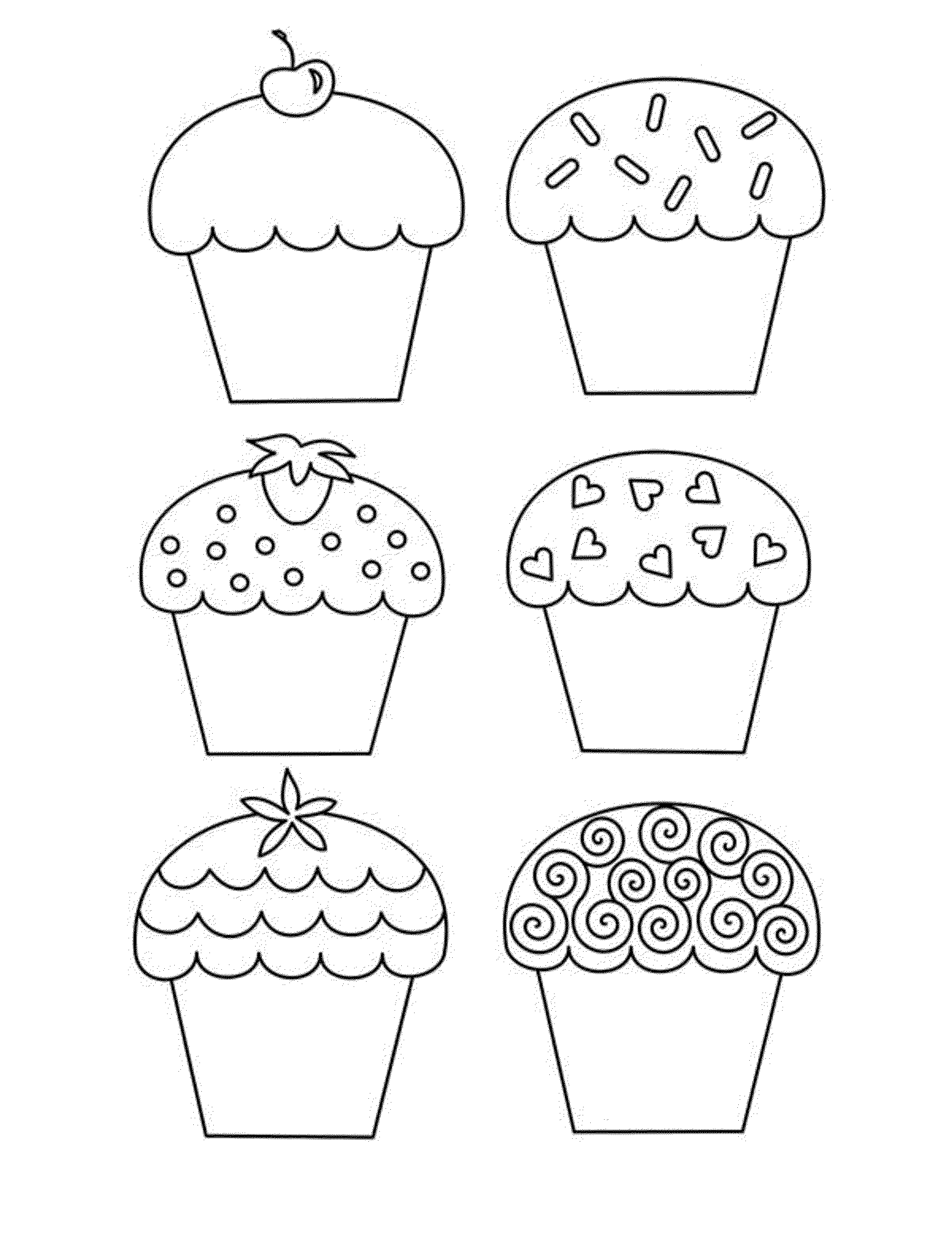 9 Best Images Of Large Cupcake Printable