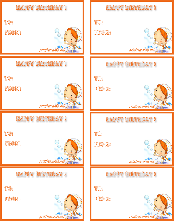 Printable Birthday Gift Tags Templates ~ Best images of free printable birthday gift tags templates