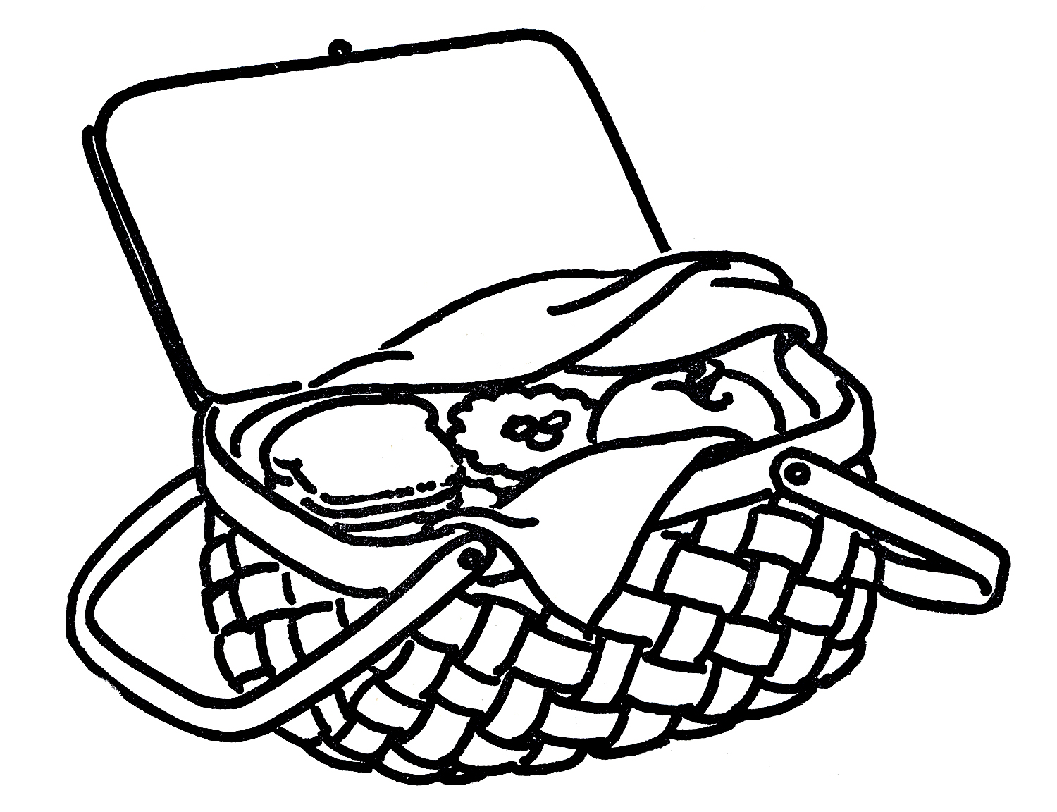9 Images of Picnic Basket Coloring Sheet Printable