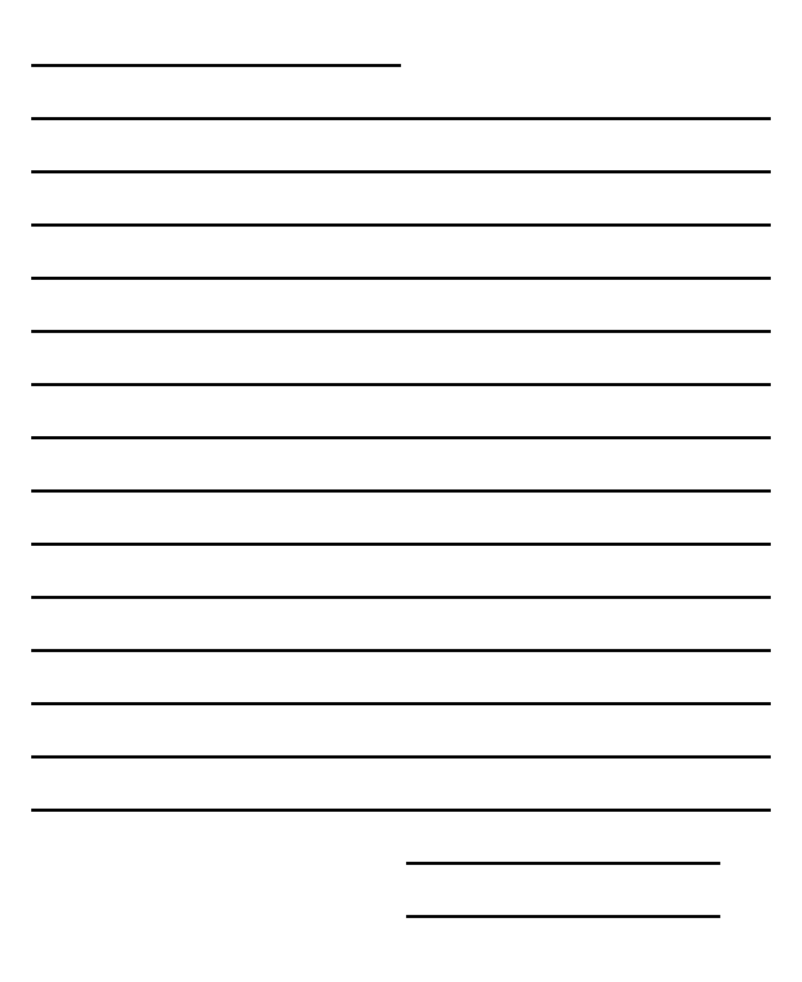 Blank Letter Format Template