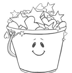 7 Images of Bucket Filler Printables Coloring Page