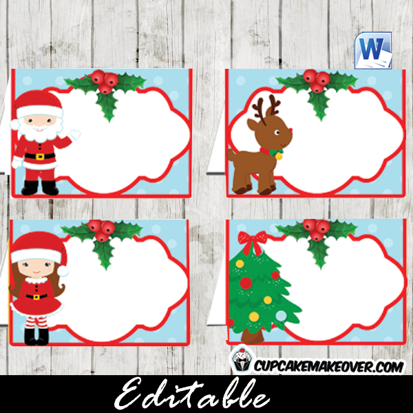 6 Images of Labels Editable Printable Christmas Food