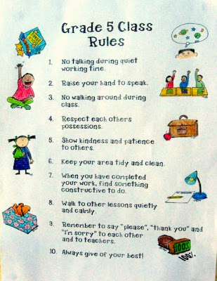 4 Images of Printable Classroom Rules Template