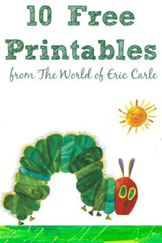 7 Images of Eric Carle Hungry Caterpillar Printables