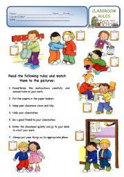 5 Images of Printable School Rules Worksheet