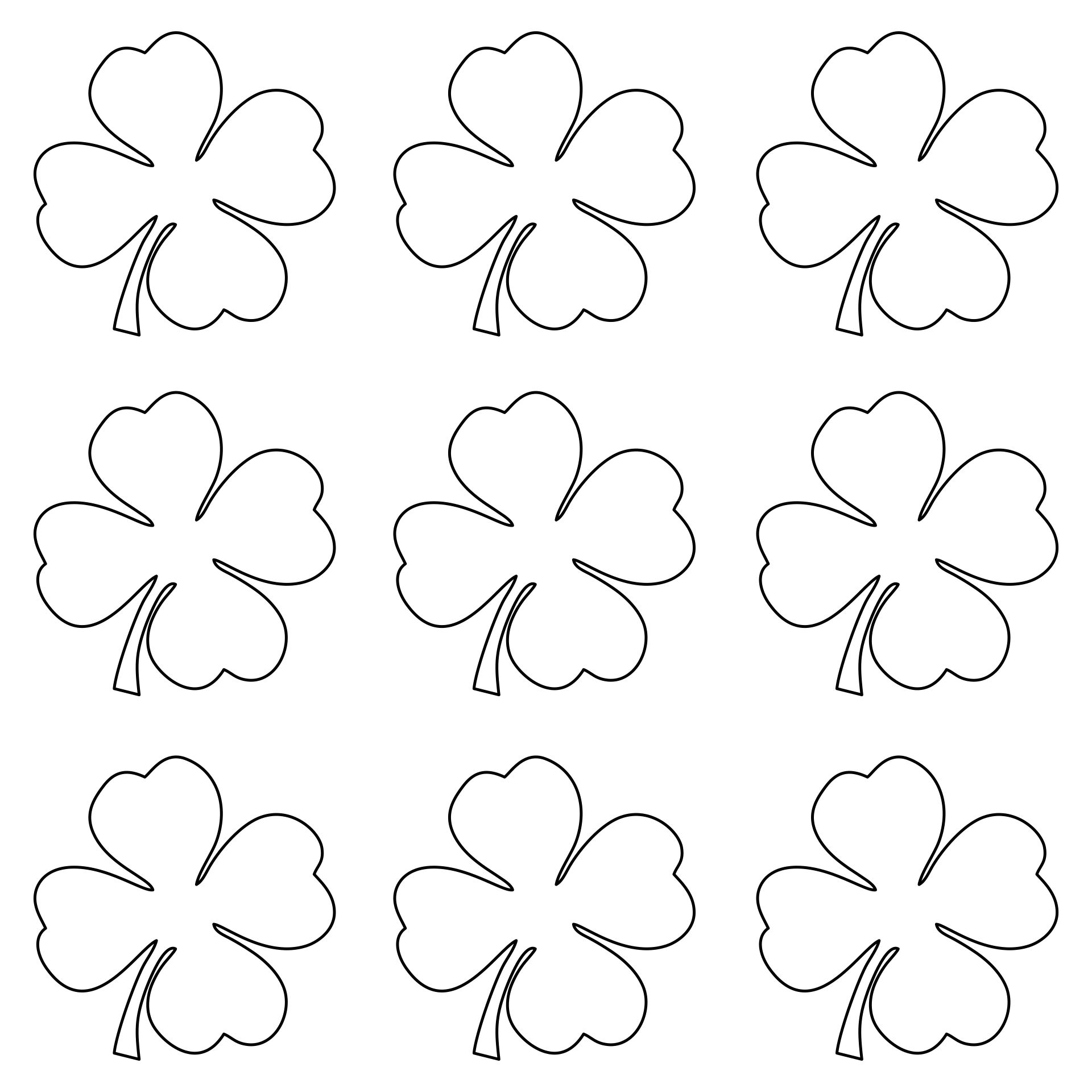 7 best images of big shamrock printables free shamrock for Shamrock cut out template