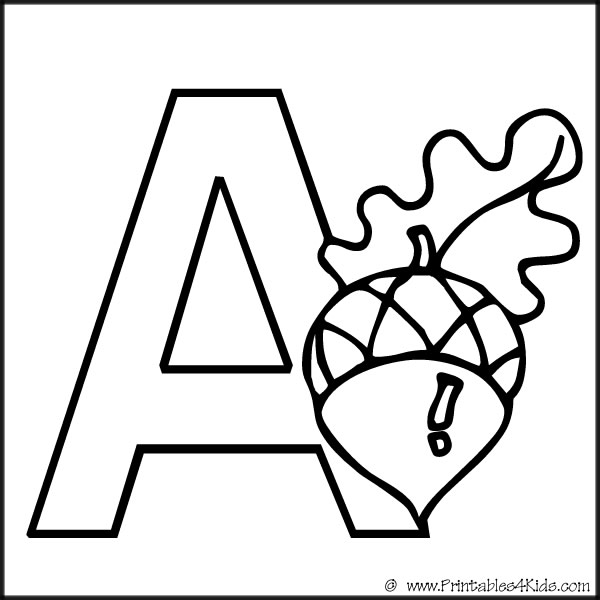 4 Images of Printable Alphabet Letters Coloring Pages Kids