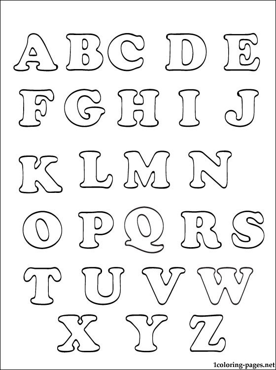 4 Best Images of Printable Alphabet Letters Coloring Pages Kids ...