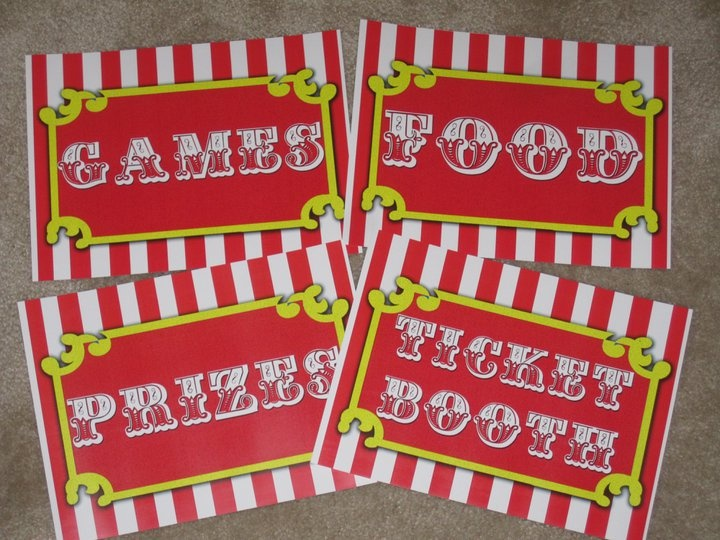 5 Images of Free Carnival Printables Food Signs