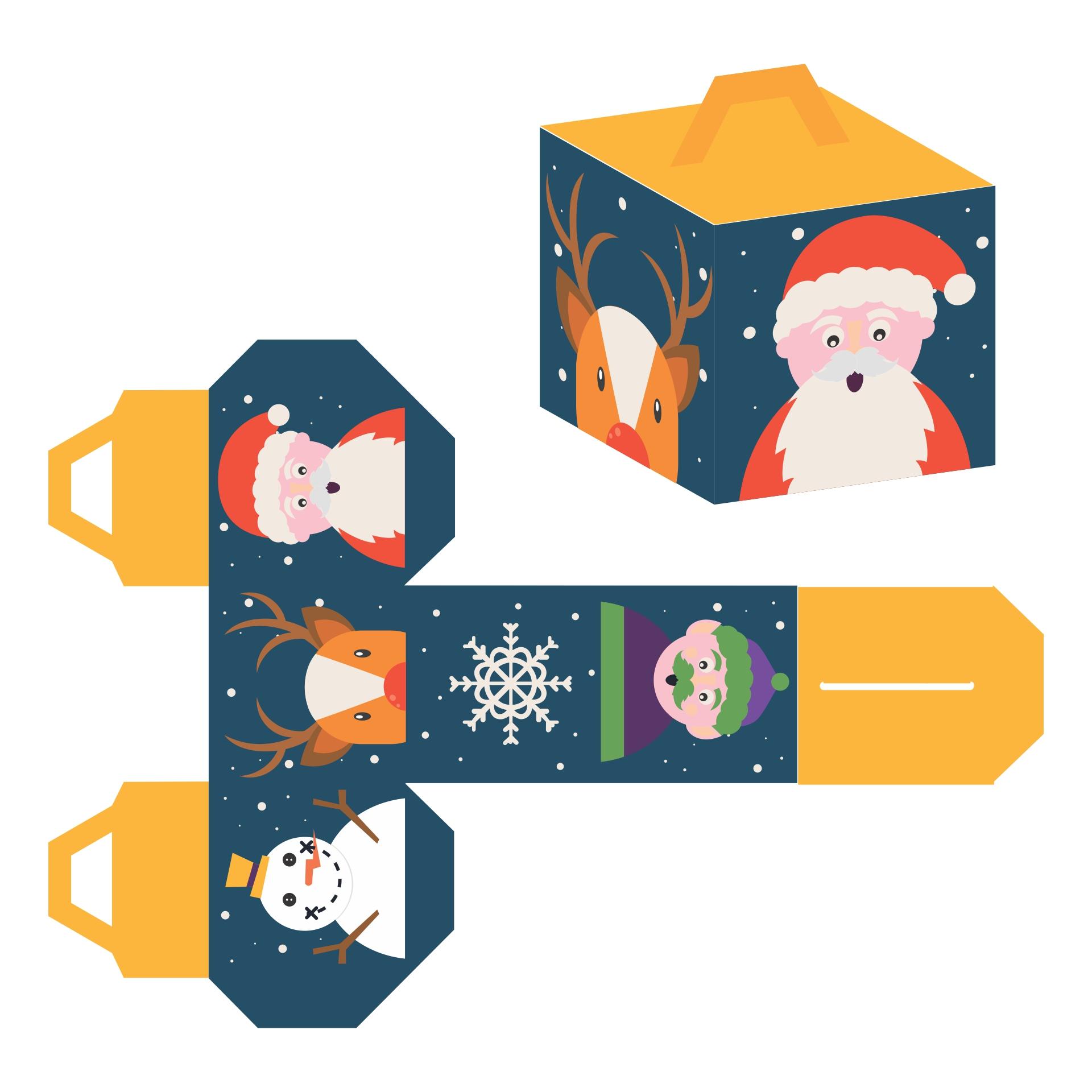 Printable Christmas Paper Box Templates