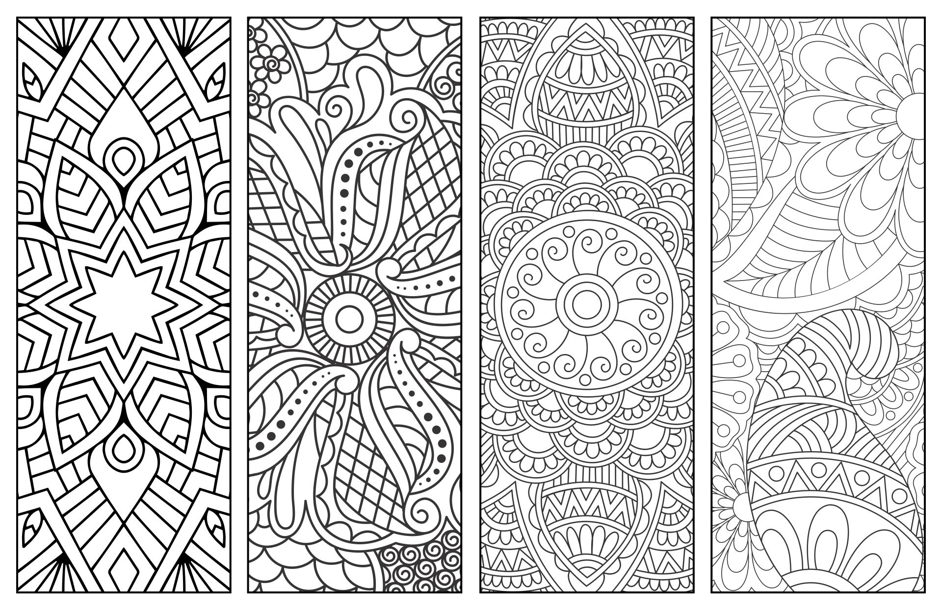 Printable Coloring Bookmarks