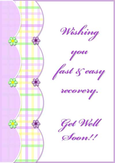 4 Images of Free Printable Get Well Cards Kids