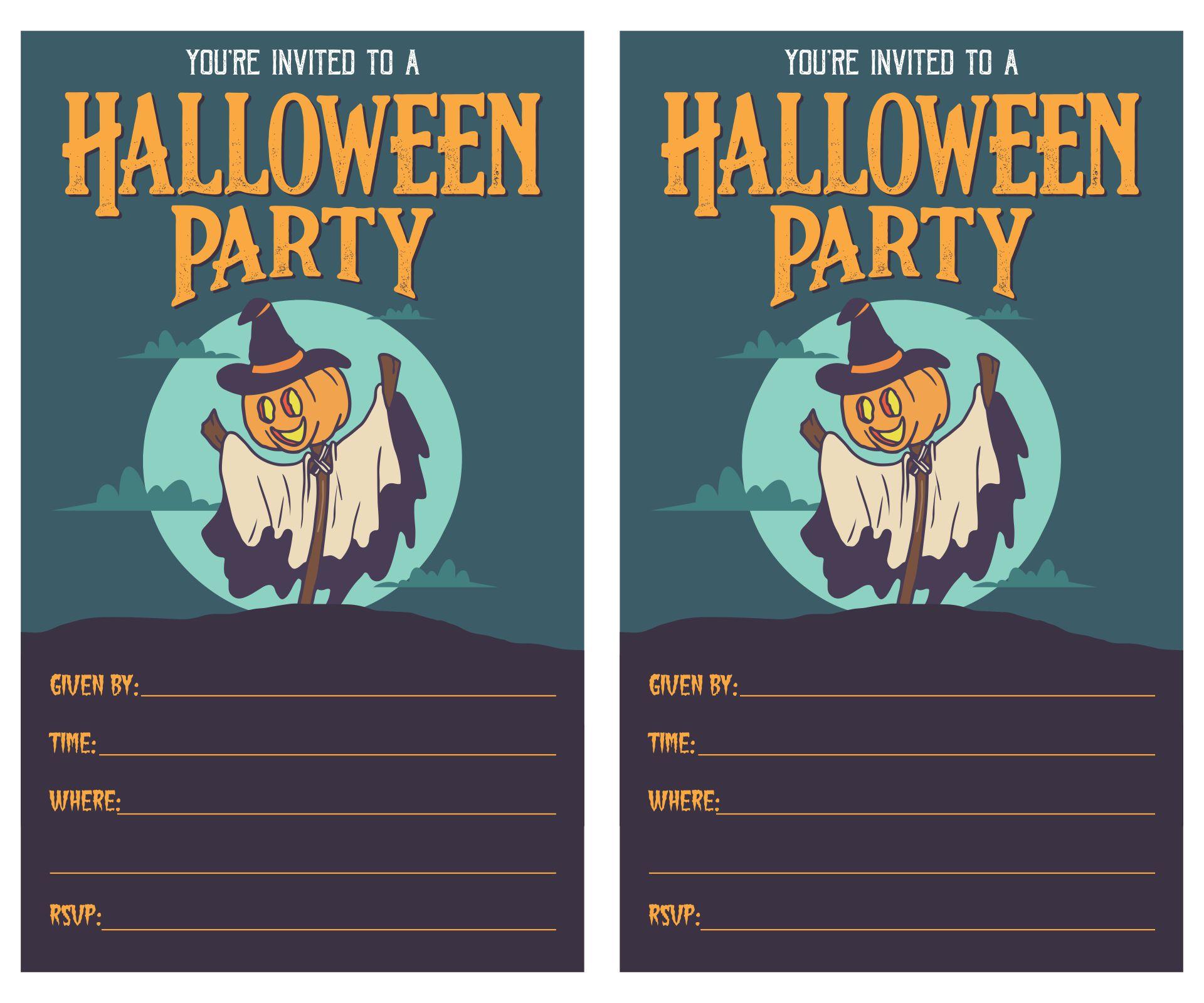 Printable Halloween Invitation Flyers