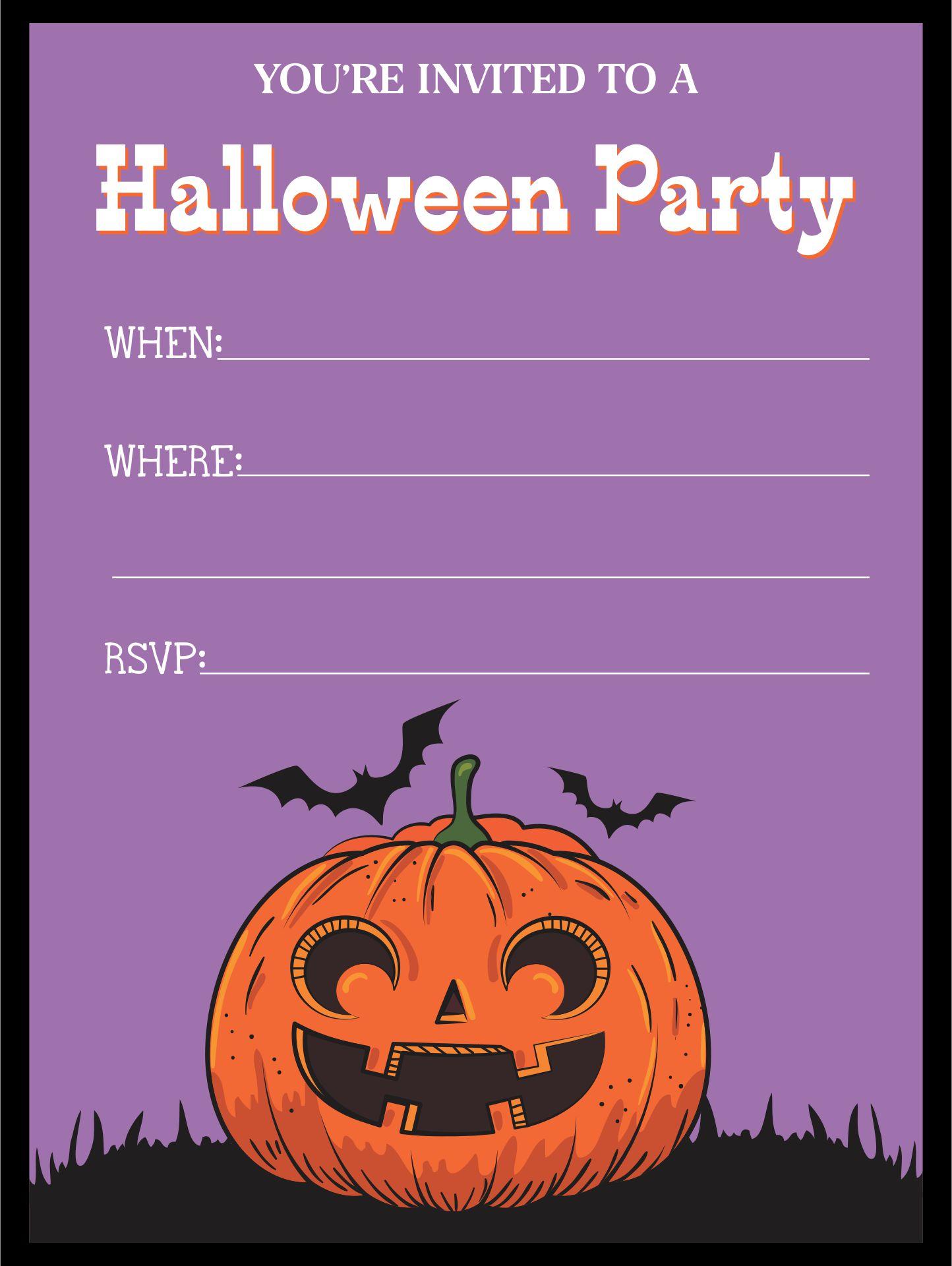 Printable Halloween Invitations Template