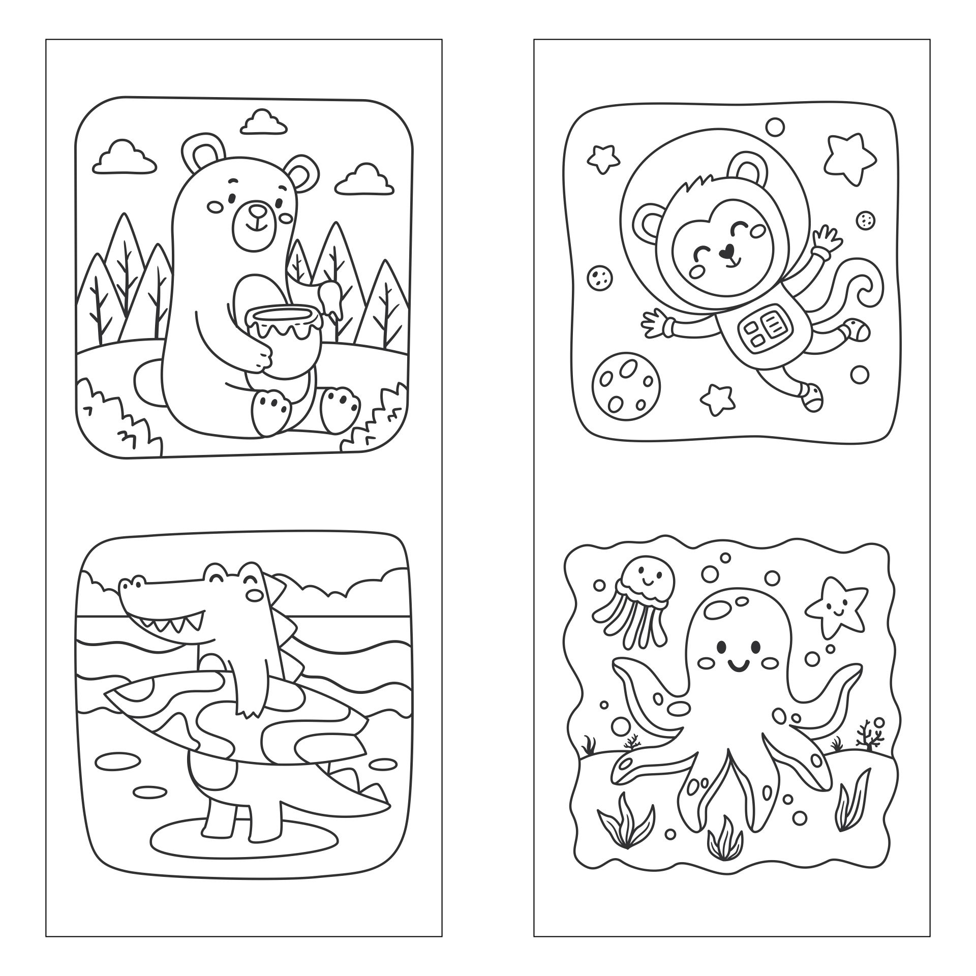 Printable Kids Bookmarks to Color