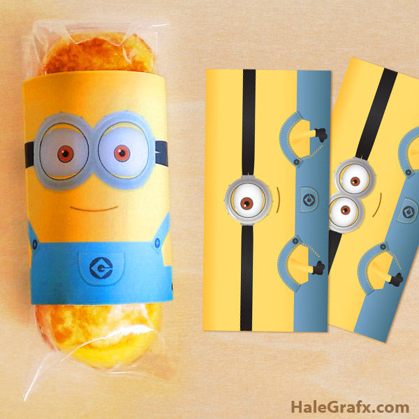 5 Images of Minion Twinkie Wrapper Printable