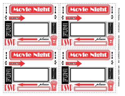 6 Best Images of Free Printable Movie Invitations - Movie Night Birthday Party Invitations