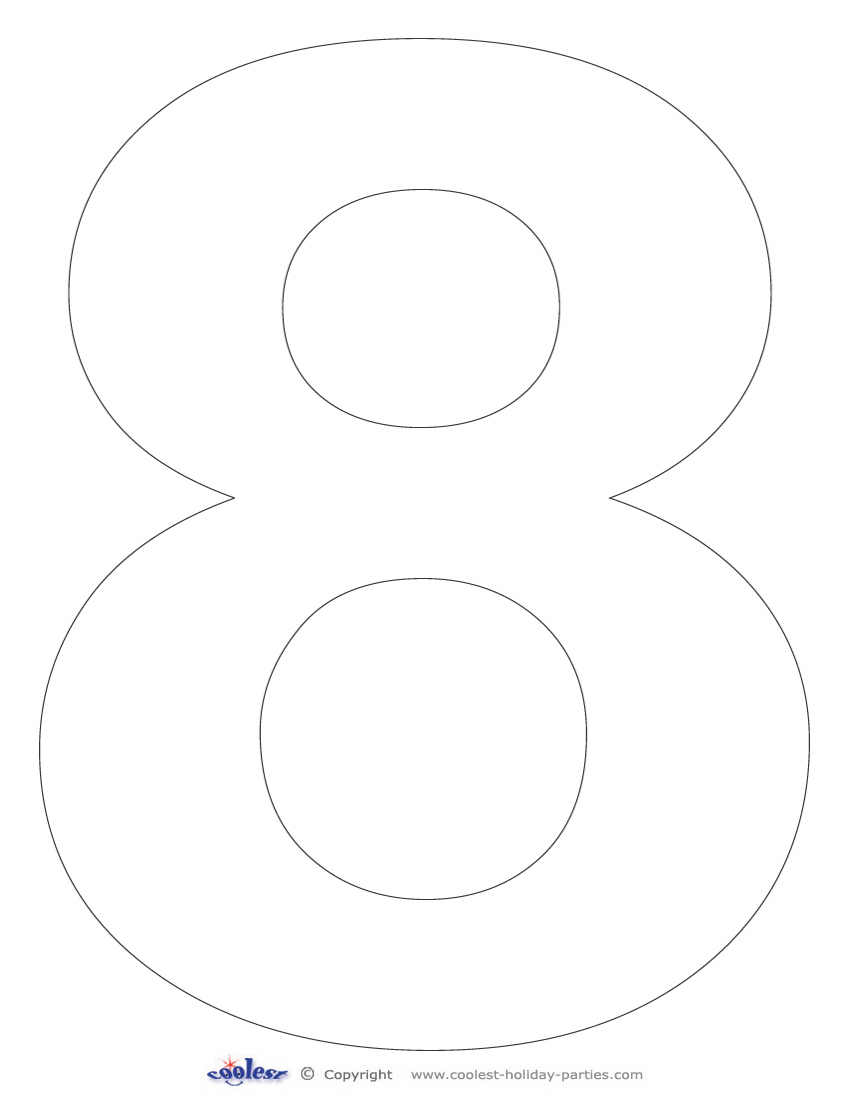 7 best images of 8 large number stencils printable free for Free number templates to print