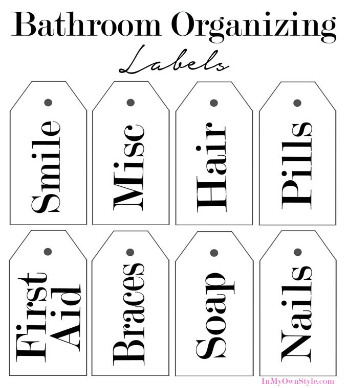 Free Printable Organizing Labels