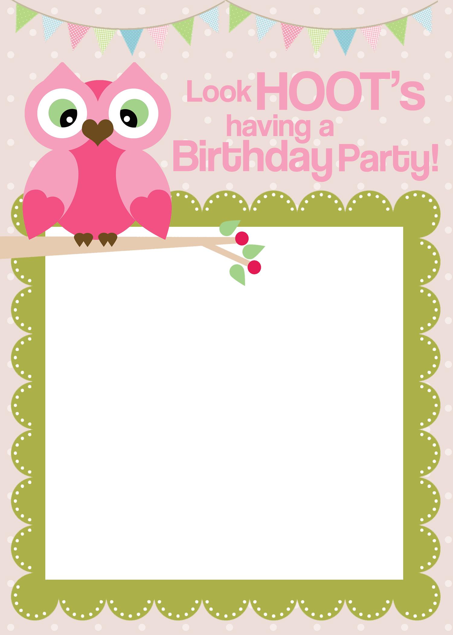 birthday invitations free templates – Free Birthday Cards Templates