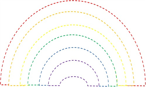 This is an image of Candid Fruit Loop Rainbow Printable Template
