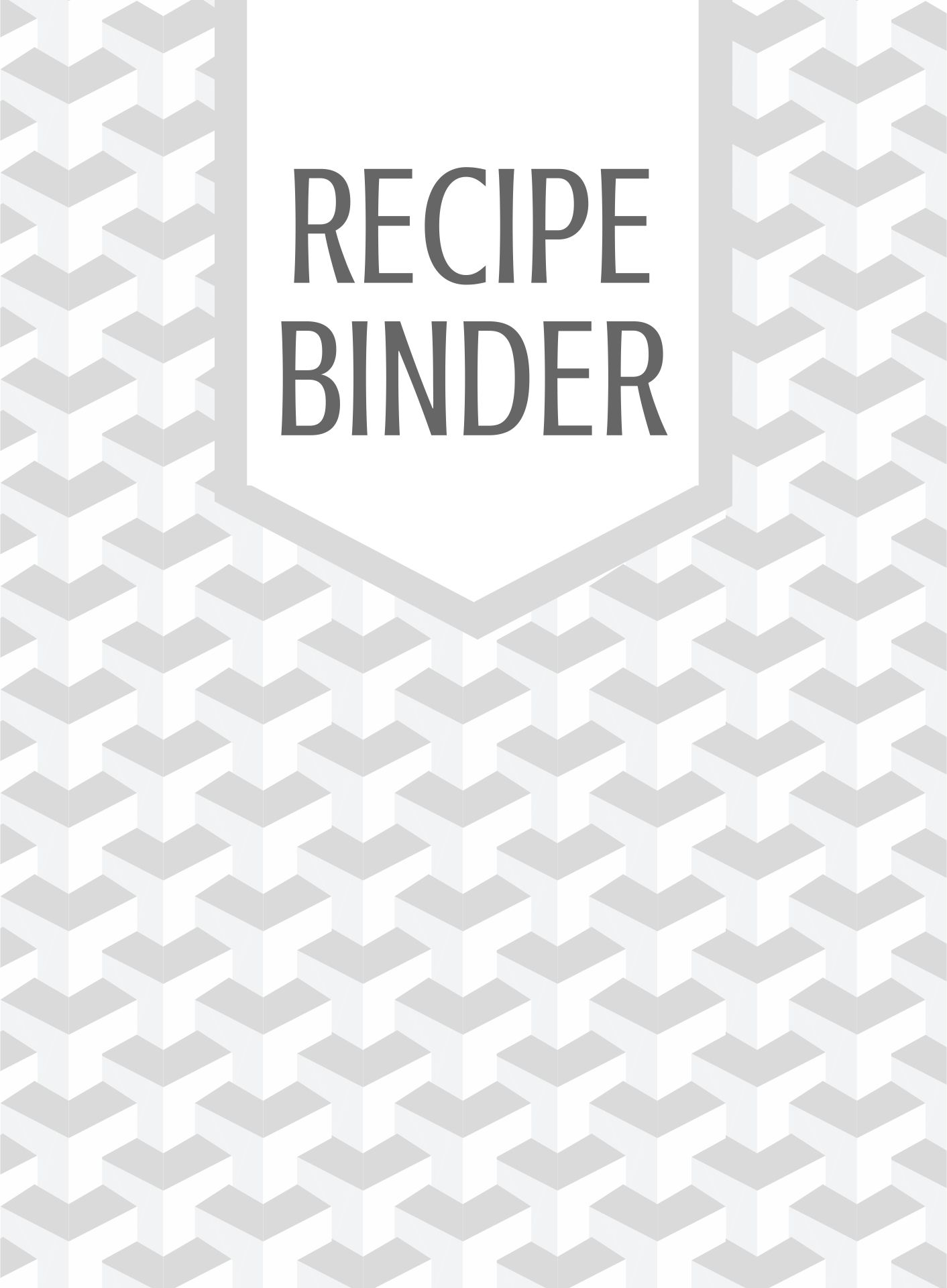 Free Printable Recipe Pages 8.5X11
