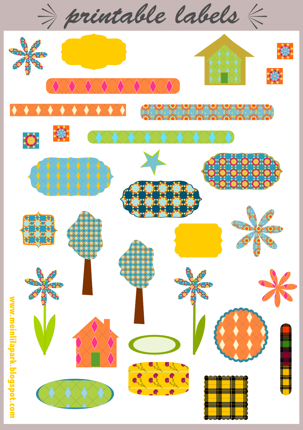 6 Images of Free Printable Scrapbook Stickers