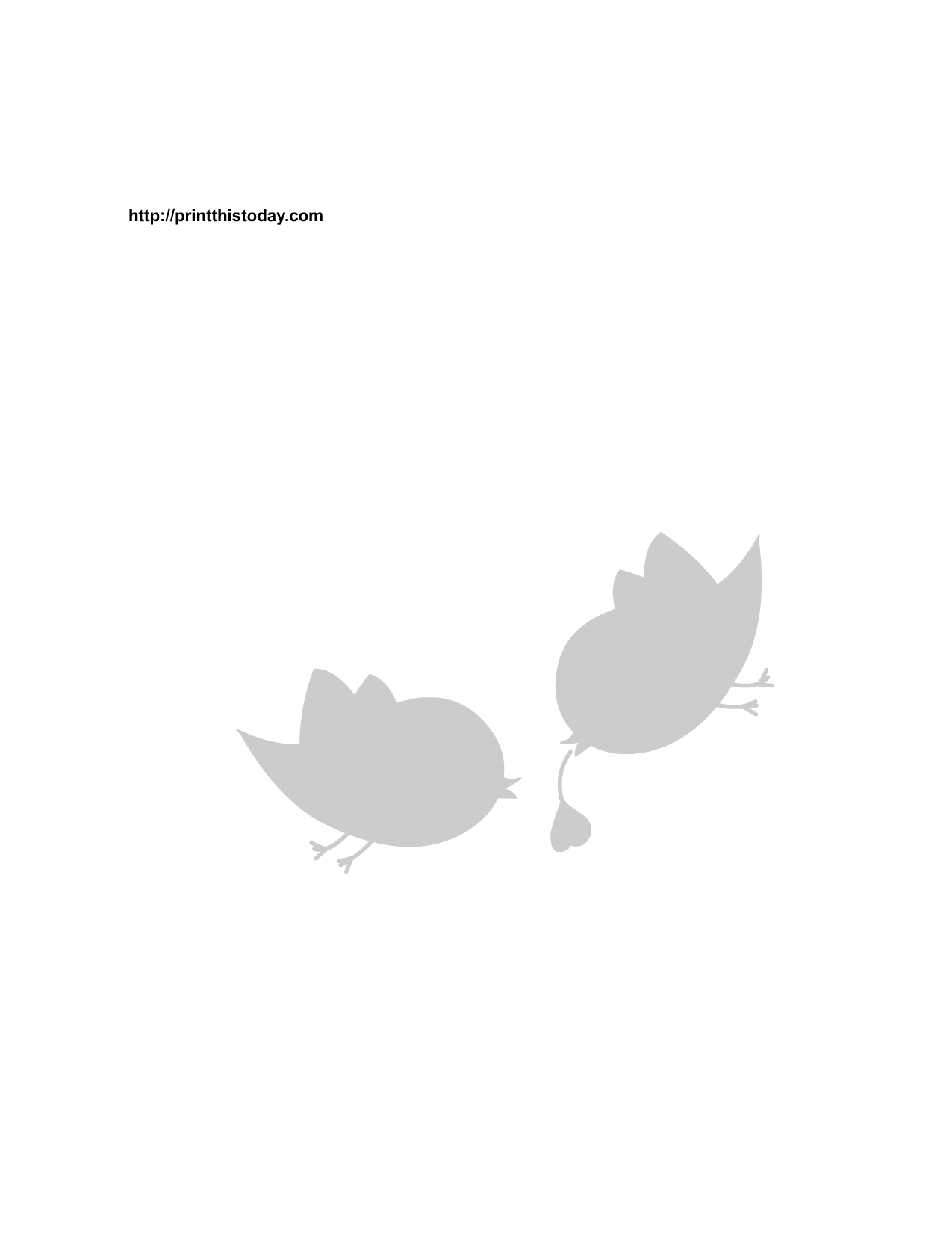 4 Images of Love Bird Stencils Printable