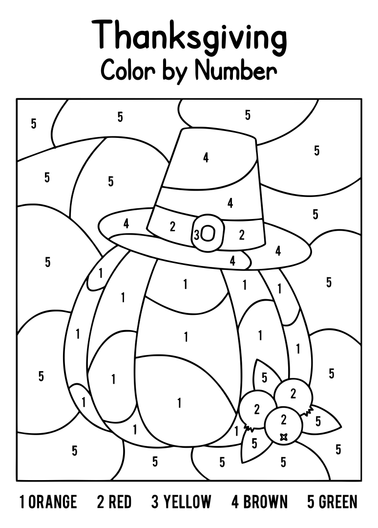 Printable Thanksgiving Coloring Activity Pages