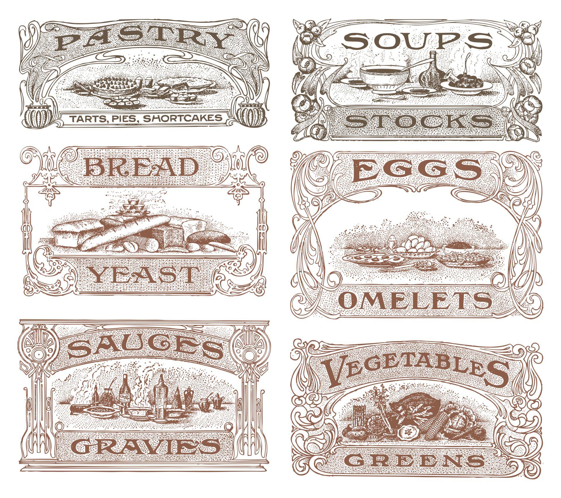 Printable Vintage Fruit Labels