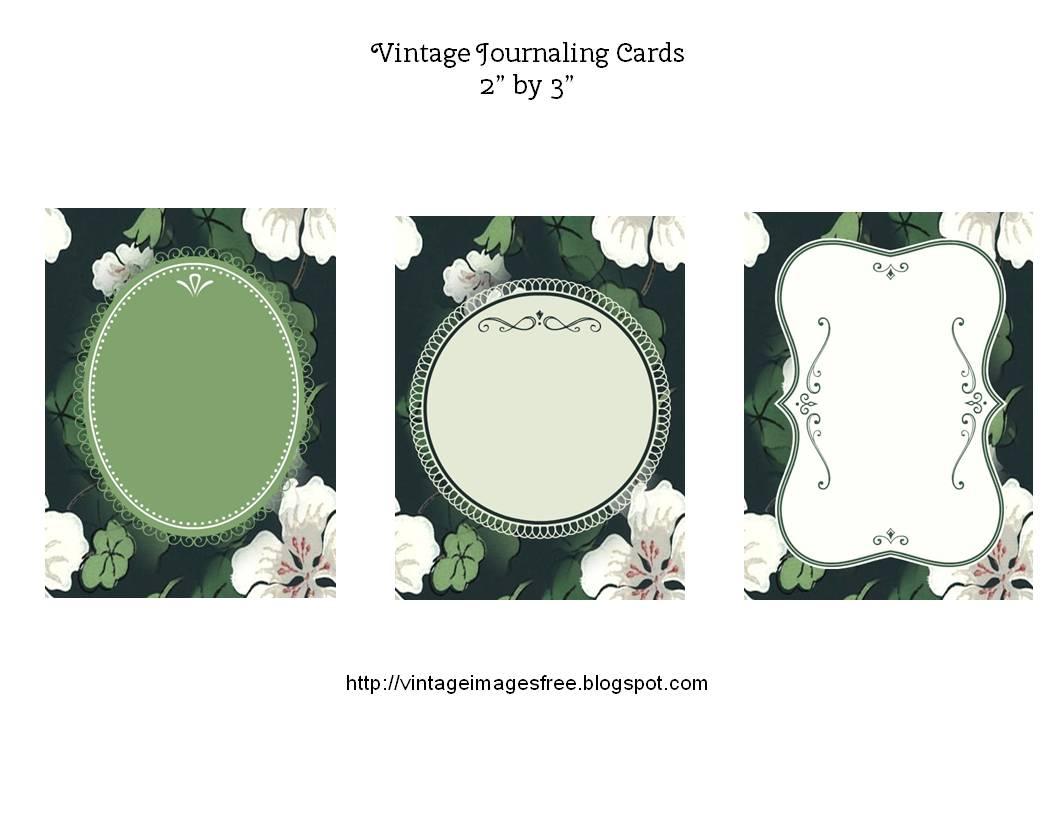 Free Printable Vintage Journaling Cards