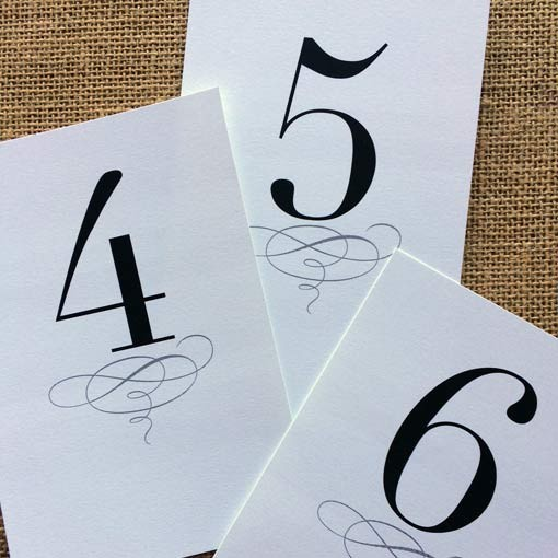 Free Printable Wedding Table Numbers Templates The Best Flowers – Numbers Templates Free