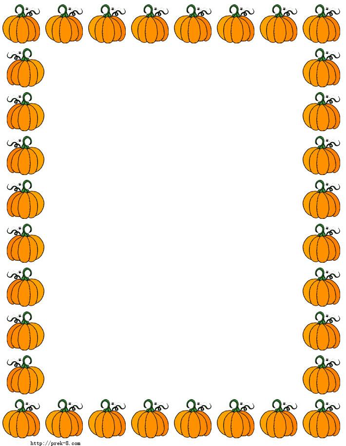 7 Images of Free Printable Pumpkin Border Clip Art