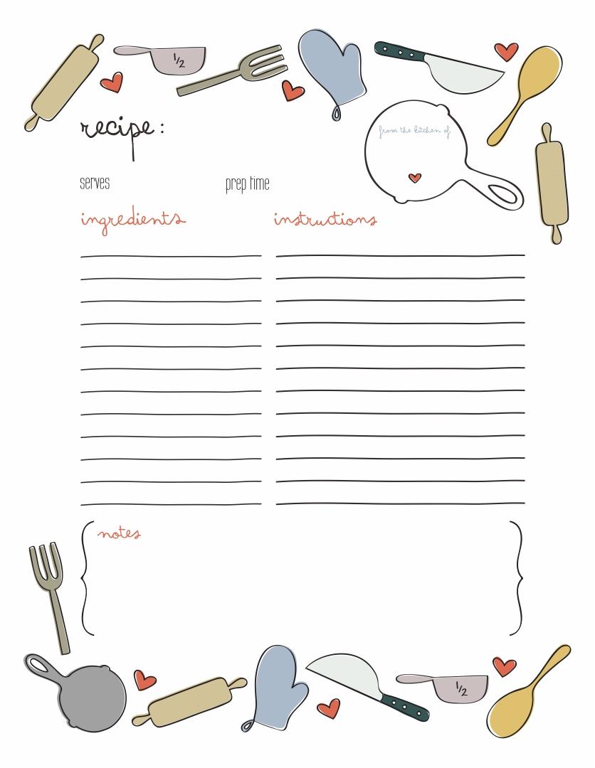 Recipe Page Template