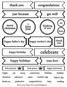 Free Scrapbook Printables Words