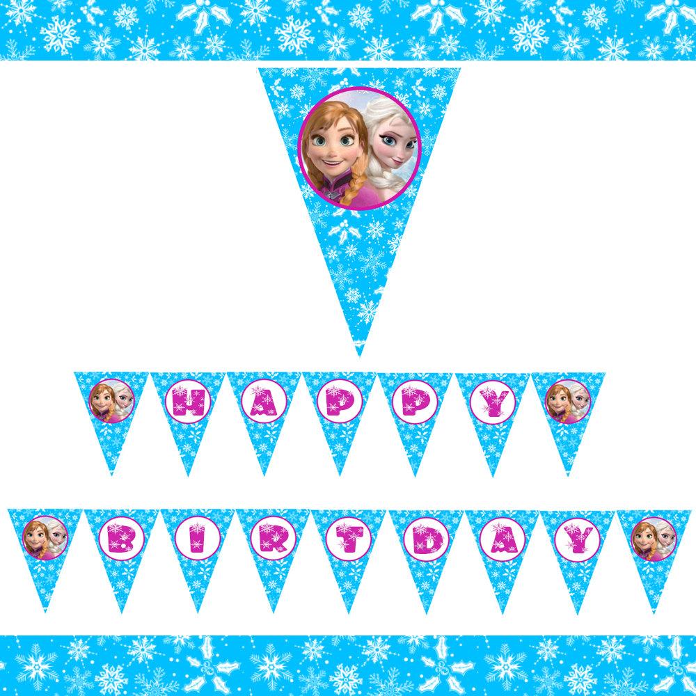 frozen happy birthday banner printable wwwimgkidcom