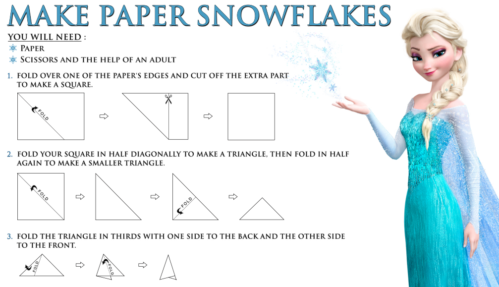 8 Images of Snowflake Frozen Paper Printables